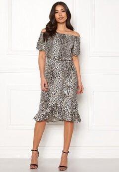 Happy Holly Farah midi skirt Leopard Bubbleroom.no