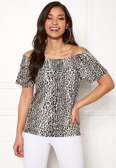 Happy Holly Farah top Leopard Bubbleroom.no