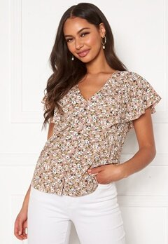 Happy Holly Fiona blouse Light pink / Patterned Bubbleroom.no
