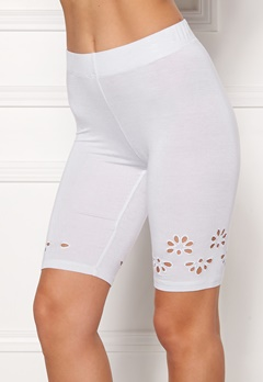 Happy Holly Flora Bike pants White Bubbleroom.no