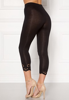 Happy Holly Flora Crop leggings Black Bubbleroom.no