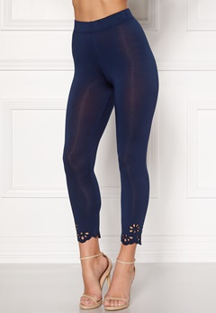Happy Holly Flora Crop leggings Navy Bubbleroom.no