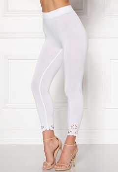 Happy Holly Flora Crop leggings White Bubbleroom.no