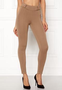 Happy Holly Franny tricot pants Camel Bubbleroom.no