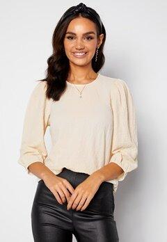 Happy Holly Fredrika puff sleeve blouse Winter white bubbleroom.no