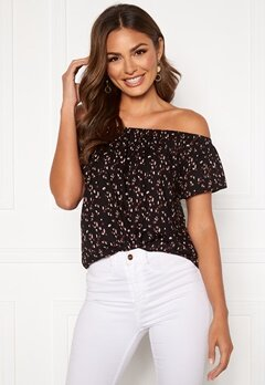 Happy Holly Fredrika singoalla blouse Black / Patterned Bubbleroom.no