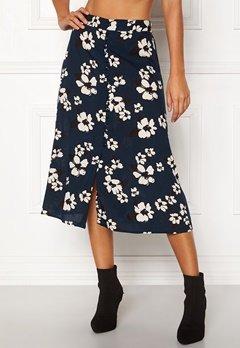 Happy Holly Frida button skirt Dark blue / Patterned Bubbleroom.no
