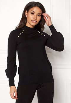 Happy Holly Genette sweater Black Bubbleroom.no