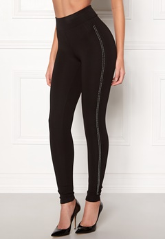 Happy Holly Gianna diamond leggings Black Bubbleroom.no