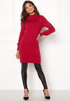 Happy Holly Haddie sweater dress Red Bubbleroom.no