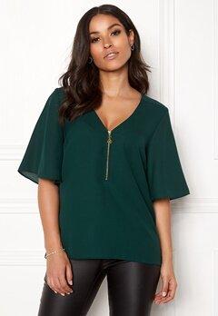 Happy Holly Hallie blouse Dark green Bubbleroom.no