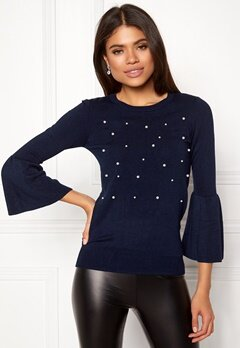 Happy Holly Hannie sweater Dark blue Bubbleroom.no