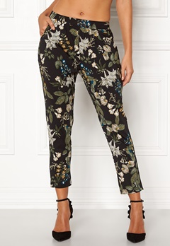 Happy Holly Hazel tricot pants Black / Patterned Bubbleroom.no