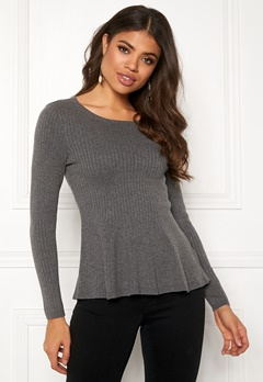 Happy Holly Henrietta sweater Grey melange Bubbleroom.no