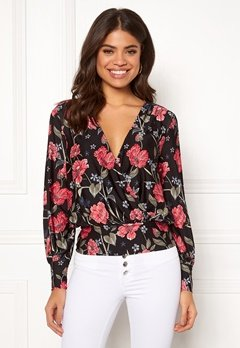 Happy Holly Ilana top Black / Patterned Bubbleroom.no