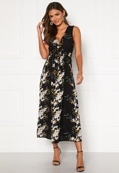 Happy Holly Ilma dress Black / Floral Bubbleroom.no