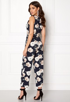 Happy Holly Iman jumpsuit Dark navy / Patterned Bubbleroom.no