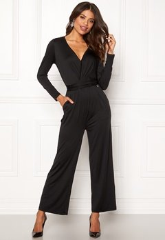 Happy Holly Iman ls jumpsuit Black Bubbleroom.no