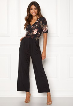 Happy Holly Iman ss jumpsuit Black / Patterned Bubbleroom.no