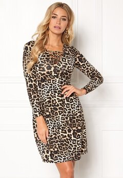 Happy Holly Irina dress Leopard Bubbleroom.no