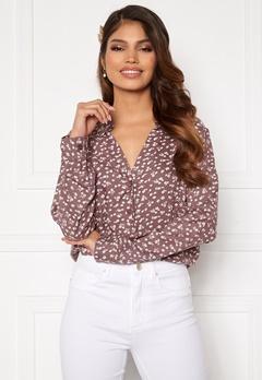 Happy Holly Iris blouse Dusty pink / Beige Bubbleroom.no