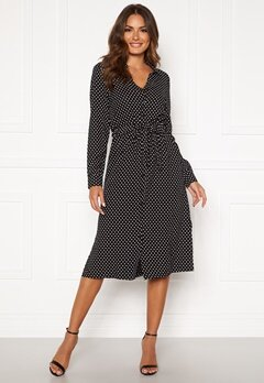 Happy Holly Iris Shirt dress Black / Dotted Bubbleroom.no