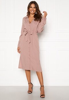 Happy Holly Iris Shirt dress Dusty pink / Dotted Bubbleroom.no
