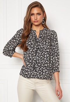 Happy Holly Isabella blouse Black / Patterned Bubbleroom.no