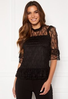 Happy Holly Isabella lace top Black Bubbleroom.no
