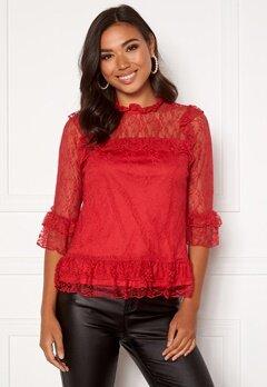 Happy Holly Isabella lace top Red Bubbleroom.no