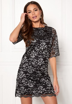 Happy Holly Jade lace dress Black / Light grey Bubbleroom.no