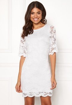 Happy Holly Jade lace dress White Bubbleroom.no