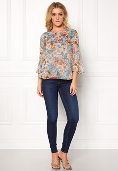 Happy Holly Janelle blouse Blue / Patterned Bubbleroom.no