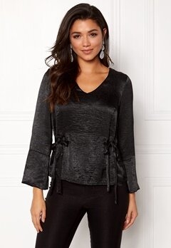Happy Holly Jannike blouse Black Bubbleroom.no