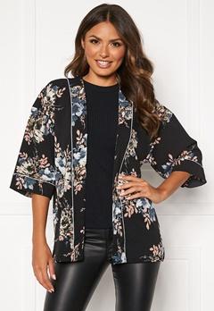 Happy Holly Jelena kimono blouse Black / Patterned Bubbleroom.no