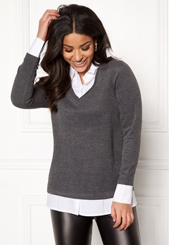 Happy Holly Jennifer top Dark grey / White Bubbleroom.no