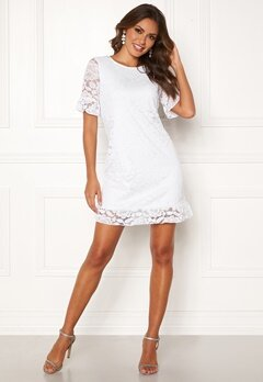 Happy Holly Julianne flounce lace dress White Bubbleroom.no