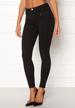 Happy Holly Justina tricot pants Black Bubbleroom.no