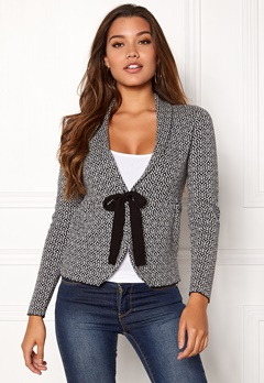 Happy Holly Kara cardigan Black / Offwhite Bubbleroom.no