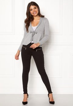 Happy Holly Kara cardigan Grey / Offwhite Bubbleroom.no