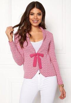 Happy Holly Kara cardigan Pink / Offwhite Bubbleroom.no