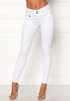 Happy Holly Karen jeans White Bubbleroom.no