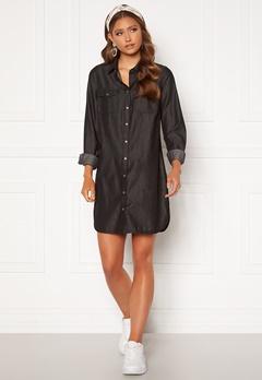Happy Holly Kathleen long denim shirt Black denim Bubbleroom.no