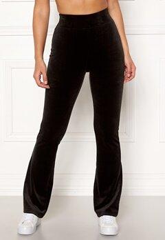 Happy Holly Kaylee velour flared leggings Black Bubbleroom.no