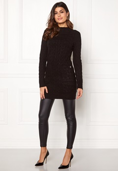 Happy Holly Kira cable sweater dress Black Bubbleroom.no