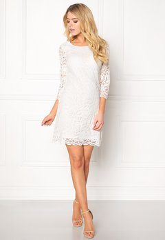 Happy Holly Lina lace dress Offwhite Bubbleroom.no