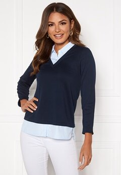 Happy Holly Kylie 2in1 top Dark blue Bubbleroom.no