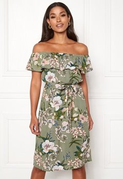Happy Holly Layla dress  Khaki green / Patterned Bubbleroom.no