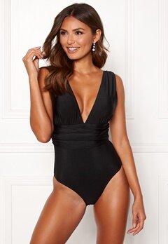 Happy Holly Leah swimsuit Black Bubbleroom.no