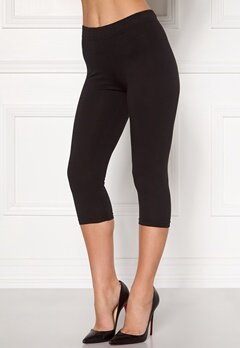 Happy Holly Beata Crop leggings Black Bubbleroom.no